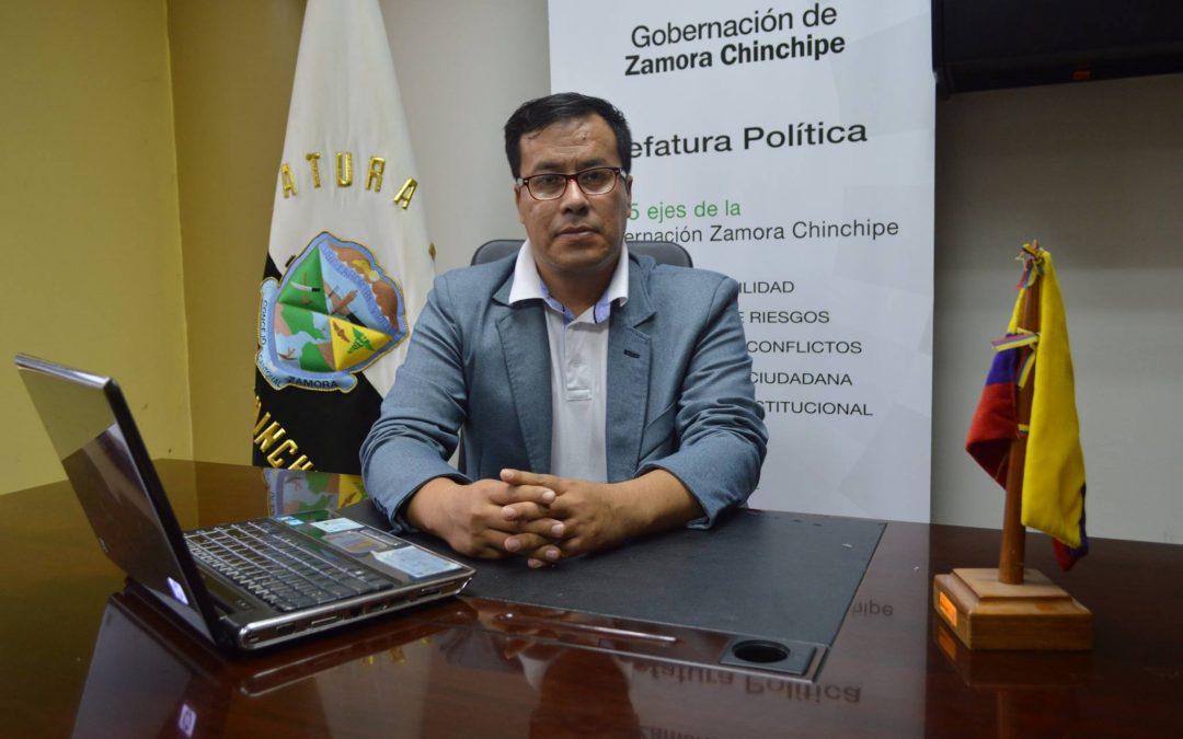 Carlos Patiño asume la Jefatura Política del Cantón Zamora